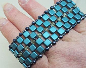 Teal Pathways Bracelet