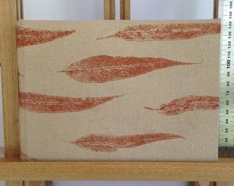 Medium Hard Cover Journal, Copper Gum Leaves, Art Diary, Notebook