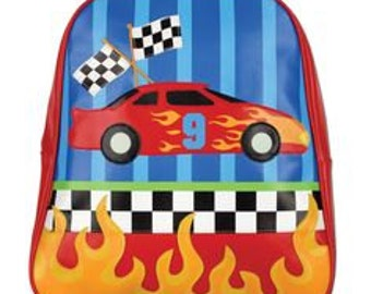 Personalized Stephen Joseph Go Go Race Car Backpack