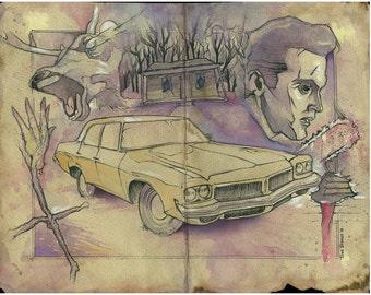 Evil Dead, original painting