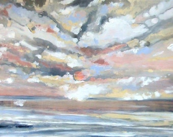 The Pacific, Fall Sky - Original Acrylic Painting