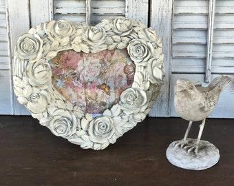 White Picture Frame - Easel Back Table Top Ornate Frame - Wedding Frame