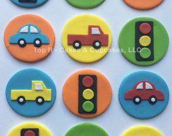 Fondant Cupcake Toppers - Transportation