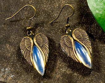 OPAL wings, earrings with Opalite