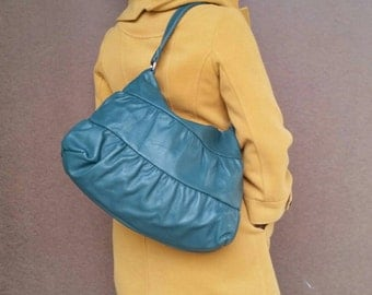 Green Leather Bag, Trendy Purse, Stylish Fashion Shoulder Handbag, Everyday Purses,  Dalay