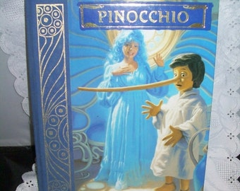 50% OFF Childrens book PINOCCHIO Illustrated signed by Greg Hildebrandt story by Carlo Collodi, 1986