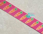 Easter Ribbon, Carrot Ribbon, Bunny Ribbon~ US Designer 7/8 Grosgrain Ribbon DIY Ribbon~