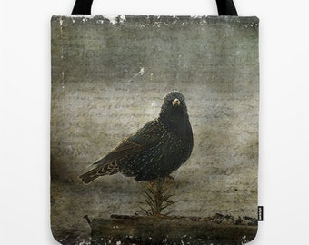 European Starling Photo Tote Bag, Photo Tote, Tote Bag, Photography, Travel Tote