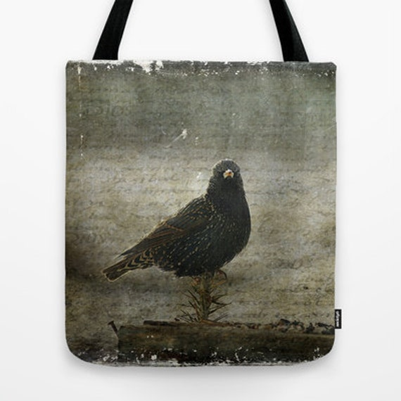 European Starling Photo Tote Bag, Photo Tote, Tote Bag, Photography, Travel Tote
