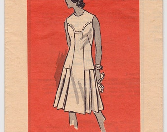 "60s Woman's Dress Vintage Sewing Pattern - Mail Order 4845 - Size 14 1/2, Bust 37"" Cut Complete"