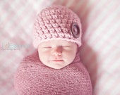 34 Color Newborn Hat Newborn Baby Hat Newborn Baby Girl Hat Newborn Baby Boy Hat Wood Button Baby Beanie Photo Prop Photography Prop