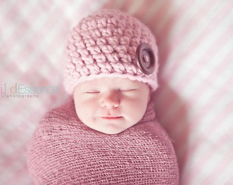 34 Colors Newborn Hat Newborn Baby Hat Newborn Baby Girl Hat Newborn Baby Boy Hat Wood Button Baby Beanie Photo Prop Photography Prop