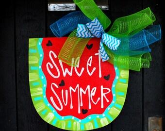 Watermelon Wreath | Watermelon Birthday | Summer Wreath | Watermelon Door Hanger | Pool Sign | Watermelon Decor | Summer Party