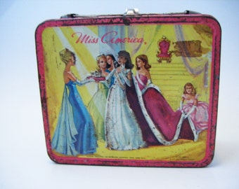 Rare Vintage 1972 Miss America Pageant Metal Lunchbox By Aladdin Industries