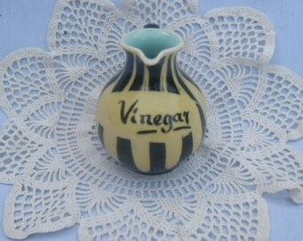 vinegar bottle Milton head pottery