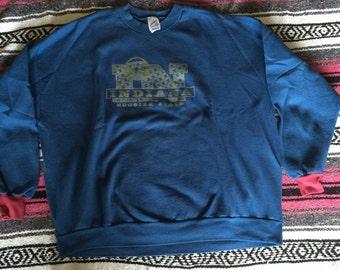 Vintage Indiana Hoosier State Oversized Sweatshirt