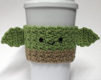 Crochet Yoda Coffee Cup Cozy