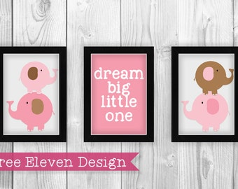 Elephant (Pink) PRINTABLE Wall Art