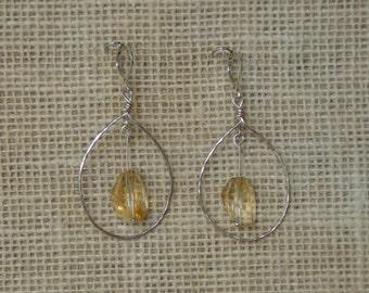 Citrine Hoop Earrings