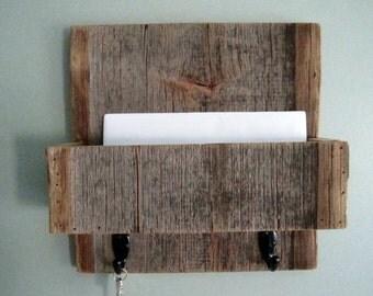 Barnwood Mail Organizer  - With hooks