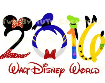 Walt Disney World Fab Five Minnie Gang Family Trip 2016 Printable Image for Iron On Transfer DIY Disney Vacation Cruise Wedding Goofy