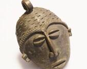 Ethnic Brass Centerpiece Pendant, African Pendant, Jewelry Supplies (Y130)