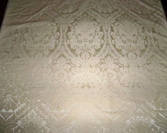 KRAVET COUTURE Lee Jofa La ROCHELLE Silk Damask Fabric 20 Yards Champagne / Cream