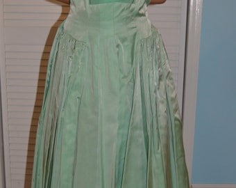 Mint green 1950's party dress