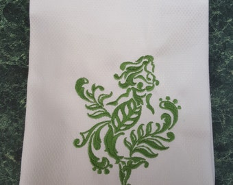 Mermaid Hand Towel or DishTowel