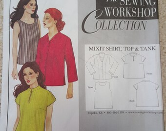 Mixit Shirt, Top and Tank by The Sewing Workshop
