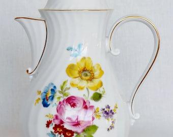 Vintage A K Kaiser W Germany Porcelain Floral Teapot/Coffee Pot,inV tage German Teapot/Coffee Pot, Floral Coffee/Teapot, German Serveware,
