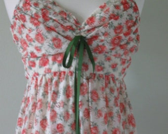50% off sale Vintage Floral Maxi Dress