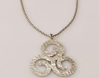 VALENTINE SALE 30% OFF Spirals-Sterling Silver Necklaces Spiral Pendant  Hammered  Spiral Hammered Pendant
