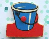 Vintage puzzle piece magnet/ Bucket / Simplex magnet
