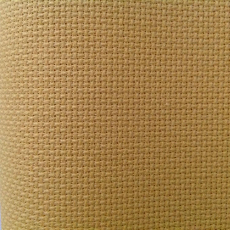 Riviera gold aida count fabric permin yellow