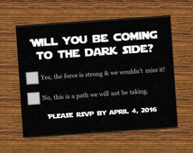 Star Wars Inspired wedding RSVP Directions Cards, invite, printed, galaxy, save the date