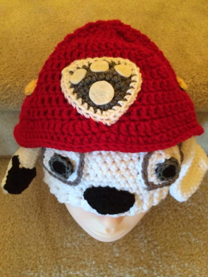 Marshall Paw Patrol Crochet Hat Pattern Free : Paw Patrol Inspired Crochet Hat Marshall crochet Hat by ...