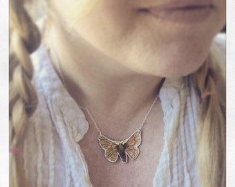 Moth with Sterling silver chain