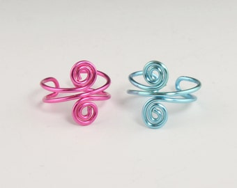 Spiral Ear Cuff - Buy Two and Save - Choice of 9 Colors, Wire Ear Cuff, Swirl Ear Cuff, Ear Wrap, Non Pierced, Cartilage Cuff