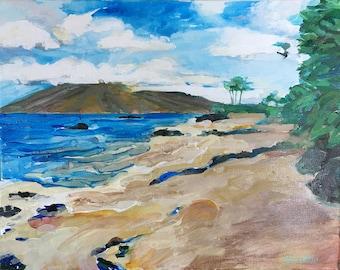 Original Painting - Ulua Beach Maui - Plein Air Painting