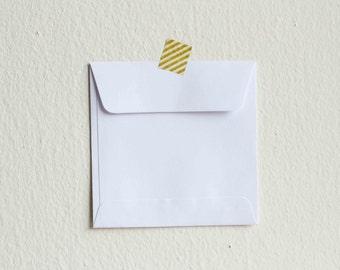 Set of 50 small white envelopes square 9.5cmX9.5cm.