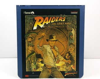 Raiders of the Lost Ark SelectaVision VideoDisc CED / Vintage Movie Art / Movie poster