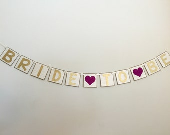 Bridal Shower Banner, Bride to Be Banner, Bride to Be Sign, Gold Bride to Be Banner, Bachelorette Party Banner, Glitter Bride to Be banner