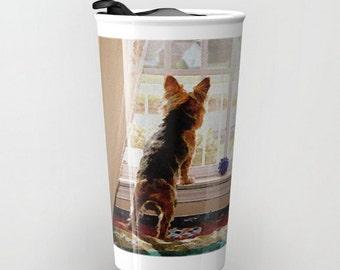 Travel Mug Coffee Mug Yorkie Yorkshire Terrier