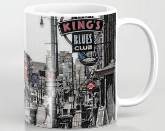 Coffee Mug Ceramic Mug Beale Street Memphis Tennessee Street Scene