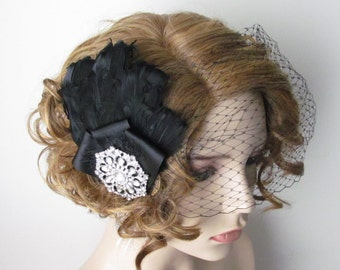 Feather Birdcage Veil  / Bandeu Veil  / The Trinity Veil
