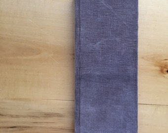 Recycled Grey Corduroy Tall Ledger Book