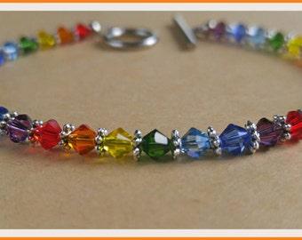 Classy Gay Pride Rainbow Bracelet...