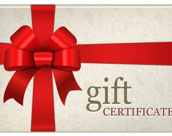 Gift Certificates---