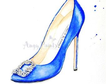 fashion manolo blahnik shoes print manolo blahnik heel fashion wall art